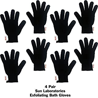 Exfoliating Gloves 4 Pairs - Full Body Scrubbing Gloves Great Dead Skin Remover Body Scrubbers For Use In Shower
