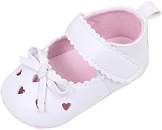 Baby Walking Shoes for 0-18 Months,Newborn Infant Toddler Girls Soft Soled Non-Slip Sneakers Bowknot Crib Shoes