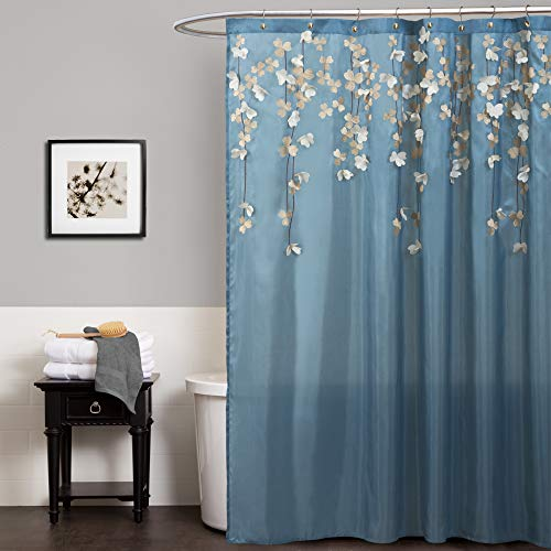 """Lush Decor Flower Drops Shower Curtain 