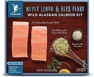 Fishpeople Wild Alaskan Salmon Meal Kit with Meyer Lemon & Herb Panko, 2 Servings, 0.64 lb (Frozen)