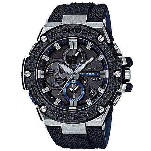 Men's Casio G-Shock G-Steel Black Carbon and Resin Bluetooth Watch GSTB100XA-1A