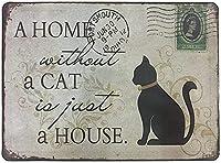 レトロおかしい金属錫サイン12x 16インチ(30 * 40 cm)子猫 ブリキ看板警告通知パブクラブカフェホームレストラン壁の装飾アートサインポスター(gs-1-5)