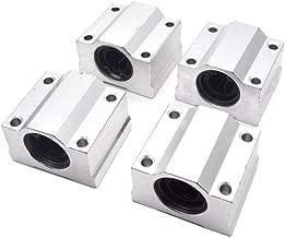 Sydien 4Pcs SCS12UU Linear Motion Ball Bearing CNC Slide Bushing 12mm Inner Diameter Sliding Block