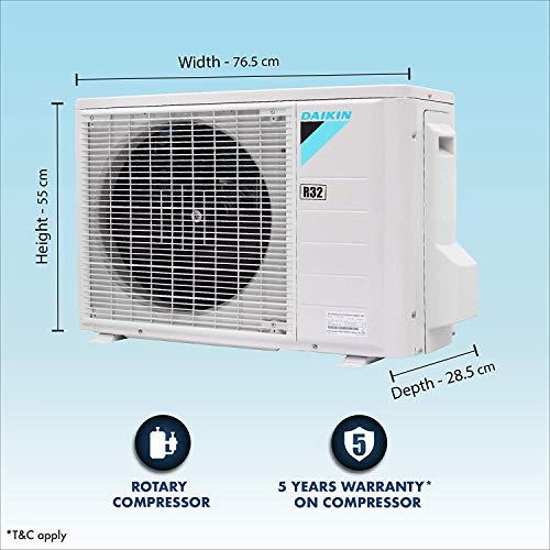 Daikin 0.8 Ton 3 Star Split AC (Copper, PM 2.5 Filter, 2020 Model, FTL28TV , White)