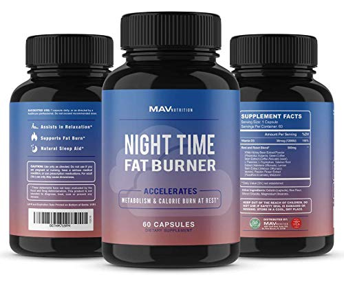 MAV Nutrition Weight Loss Pills Fat Burner for Night Time as Appetite Suppressant and Metabolism Boost, 60 Count 5