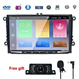 9' Reproductor Multimedia DVD 2 Din GPS Navegador Android 9.0 Quad Core con WIFI Bluetooth Control Volante para Coche Vehículo GOLF Android 2GB RAM 16G Flash