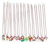 San Tokra 12 Pcs Light Up Christmas Necklace Lights, Holiday...