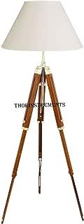 Thor Classical Designer Marine Tripod Floor Lamp Retro Vintage Wooden Tripod Lamp