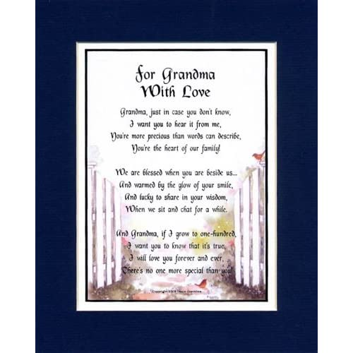 Amazon A Birthday Present For Grandmother 28 Grandma Poem Home Decor Gift Packages Posters Prints