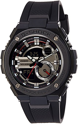 Casio Men's G-Shock GST210B-1A Black Rubber Quartz Watch