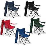 G2J Brothers® Portable Foldable Camping Big Chair with Free Carry Bag for Fishing/Beach Picnic/Travelling/Lawn/Home/Etc Extra (Multi Color)