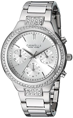 Caravelle New York Orologio Cronografo al Quarzo Donna con Cinturino in Acciaio 43L186