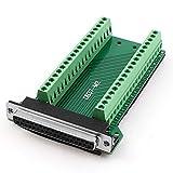 uxcell DB37 アダプター メス 37ピン DB37ポート プラグ 端子 コネクタ 2行 ブレークアウト PCB基板
