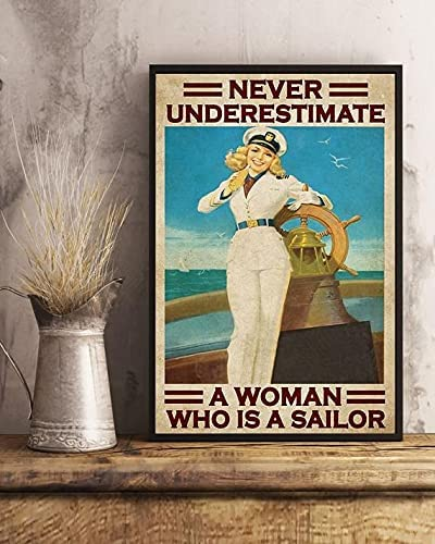 Merchansite Never Max 55% OFF Underestimate A Women Jacksonville Mall is Who Sailor Canvas