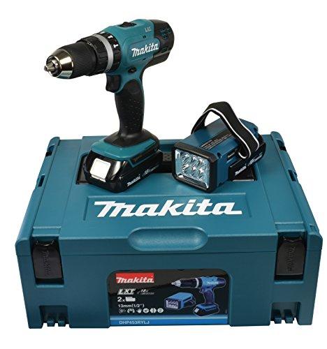 Makita Akku-Schlagbohrschrauber Set 18 Volt / 1,5 Ah inkl. Akku-Lampe - 2