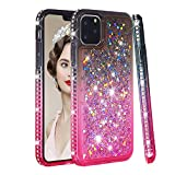 iPhone 11 Pro Max Case, Futanwei [Gradient Colorful+Quicksand+Diamond Bumper] Soft TPU Case for Girls Glitter Crystal Design Sparkle Bling Luxury Full Cover for Apple iPhone 11 Pro Max, graypink