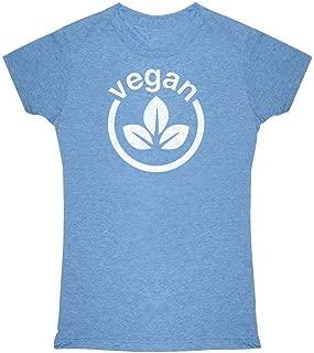 Vegan Logo Vegetarian Lifestyle Graphic Tee T Shirt for Women