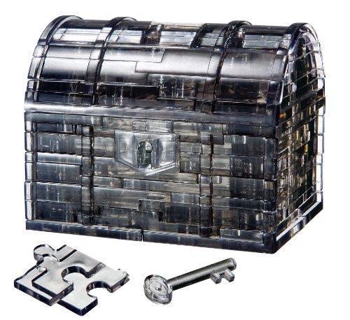 Crystal puzzle 52 piece Treasure Box Black 50137 (japan import)