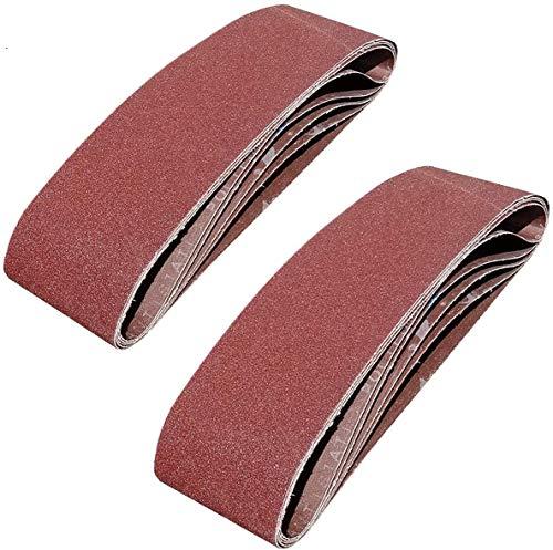 SACKORANGE 15 PCS 4 x 36 Inch Sanding Belts | 80 Grit Aluminum Oxide Sanding Belt | Premium Sandpaper for Portable Belt Sander (80 Grit)