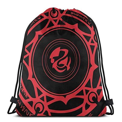 Hdadwy Gremory Clan Magic Circle Sport Bag Gym Sack Mochila con cordón para Compras en el Gimnasio
