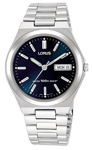 Lorus Klassik Herren-Uhr Edelstahl mit Metallband RXN17BX9