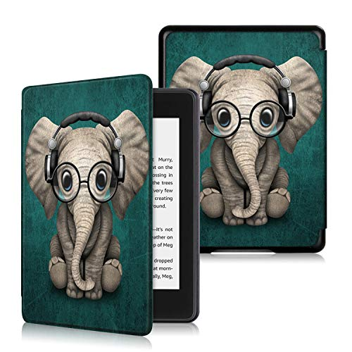 Anvas Case for Kindle Paperwhite 10th Gen 2018,Thinnest Light Shell Smart Cover with Auto Wake / Sleep for All-New Amazon Kindle Paperwhite 6 Inch 2018 Release, Music Elephant