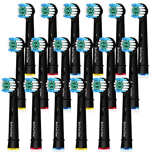 18 Stück Precision Aufsteckbürsten Kompatible für Oral B Elektrische Zahnbürsten, Schwarz. 100% weißere Zähne.von Betterchoi