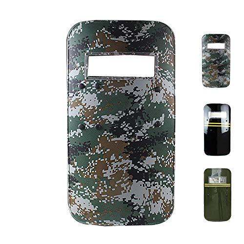 SHIJIU SHIMENG plástico PC defensa escudo policía/swat/soldado/capitán/defensa cosplay accesorios tamaño real rectángulo...
