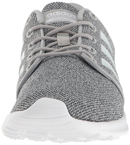 adidas Women's Cloudfoam QT Racer Xpressive-Contemporary Cloadfoam Running Sneakers Shoes, clear onix/white/clear onix, 8 M US