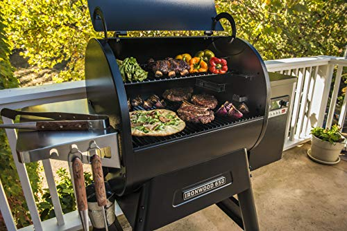 Traeger Grills Ironwood 650 Wood Pellet Grill and Smoker with Alexa and WiFIRE Smart Home Technology - Black