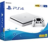 PS4 Slim 1Tb Blanca Playstation 4 - Consola 1TB, Blanca, Slim