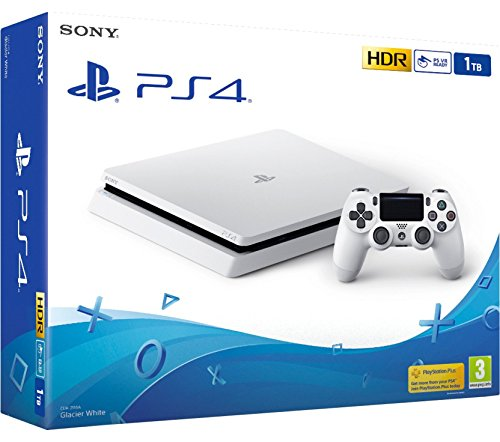 PS4 Slim 1Tb Blanca Playstation 4 - Consola 1TB, Blanca, Slim