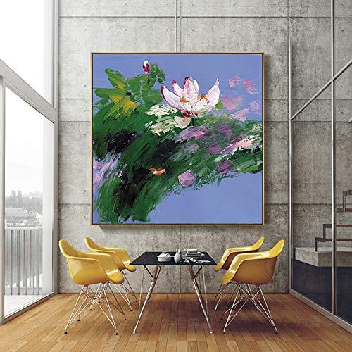KWzEQ Leinwanddrucke Lotus postermodernposter und Dekor für Wandkunst60x60cmRahmenlose Malerei