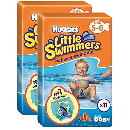 Huggies Little Swimmers Standard Taille 5/6 (12-18 kg) x 11 Culottes Lot de 2