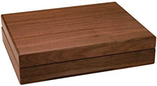 Walnut Grove Solid Wood Walnut Keepsake Treasure Box (Large)