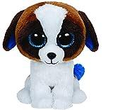TY 37012 - Duke Buddy - Hund mit Glitzeraugen, Glubschi's, Beanie Boo's, Large 24 cm, weiß/braun
