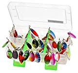 LotFancy Fishing Lures, 30PCS Spinner Baits for Bass Trout Walleye Pike Salmon Fishing, As...