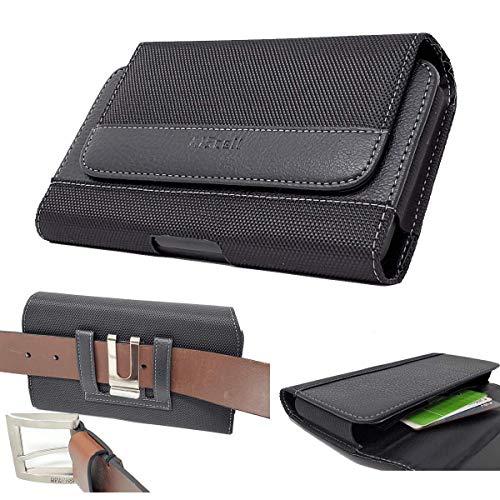 All_Instore Schutzhülle für Motorola Moto E (2. Generation), horizontal, Leder, Magnetverschluss, drehbarer Gürtelclip, inkl. AIScell Reinigungstuch