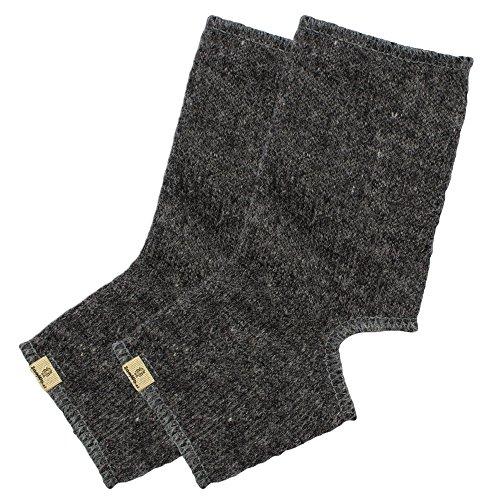 SamWo, 100% Schafwoll-Yoga-Socken, warme Füße bei Yoga und Gymnastik und perfekter Halt bei jeder Übung, S, Anthrazit
