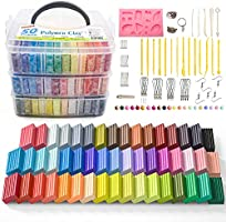 Polymer Clay, Shuttle Art 50 Colors 1.3 oz/Block Soft Oven Bake Modeling Clay Kit, 19 Tools and 10 Kinds of Accessories,...