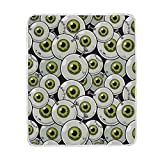 YOLIKA Vector Illustration Seamless Pattern Eyeball Zombie Super Soft Throw Blanket Bed Couch...
