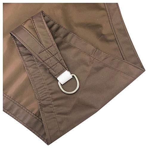 Toldo Vela De Sombra Rectangular Crema Protección UV Para Terraza Camping Jardín Al Aire Libre 2X3m,16