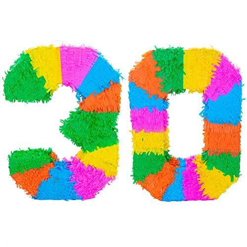Fax Potato Pinata Set mit Stick /& Blindfold 10 Rainbow Geburtstag//Jahrestag