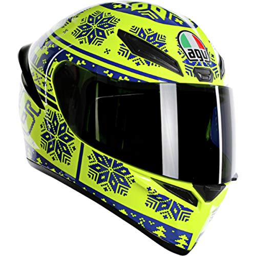 AGV Unisex-Adult Full Face K-1 Winter Test 2015 Motorcycle Helmet (Yellow/Blue, XX-Large)