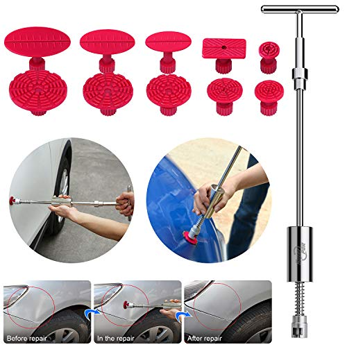 AUTOPDR Pops a Dent Puller, 2 in 1 T Puller (Big Dent) Paintless Dent Repair Kits Car Body Dent Removal Tools Remover for Auto Body Motorcycle Refrigerator Washing Machine