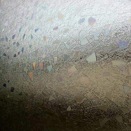 Linea Fix® estática Ventana pantalla Iris – Lámina efecto arco iris, pvc, carbón, 0.46m x 0.40 m: Amazon.es: Hogar