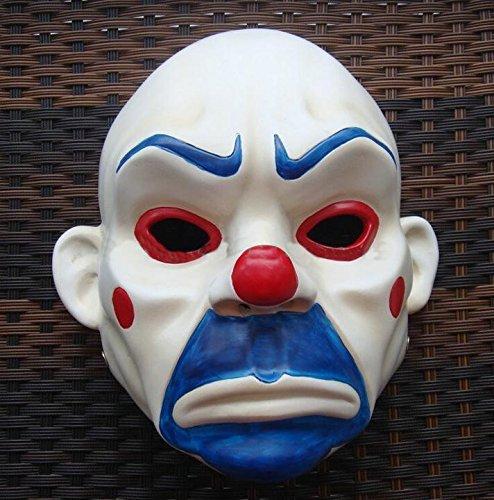 singlestopshop 2015 – Hochwertige Harz-Maske Joker Bank Räuber Maske Clown Batman Dark Knight Joker Erwachsene Manuelle Requisite Film Figuren Dress Up Kostüm