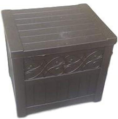 MSS Storage Organizer Box Porch Chest Garden Cushion Accessories Deck Box Outdoor Patio Store Yard Furniture Lid & E Book