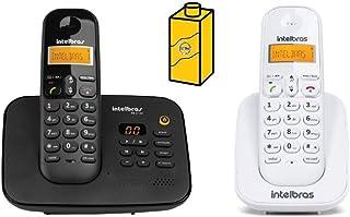 Kit Telefone Fixo sem fio Com Secretaria eletronica + Ramal