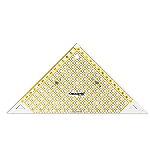 Prym Flottes Dreieck 1/2 Quadrat cm Omnigrid Lineal, Kunststoff, transparent
